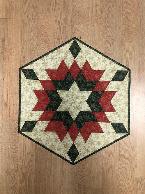 Mantel para mesa - verde/rojo/blanco