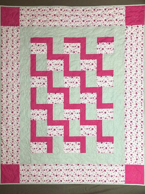 Manta para bebé - pink rosa/gris - ratoncitos
