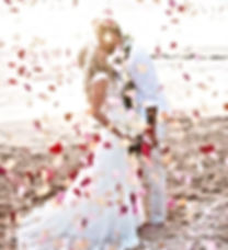Happily Maui'd Couple. Flower petal toss to make a wish wedding ceremony, elopements, vow renewal