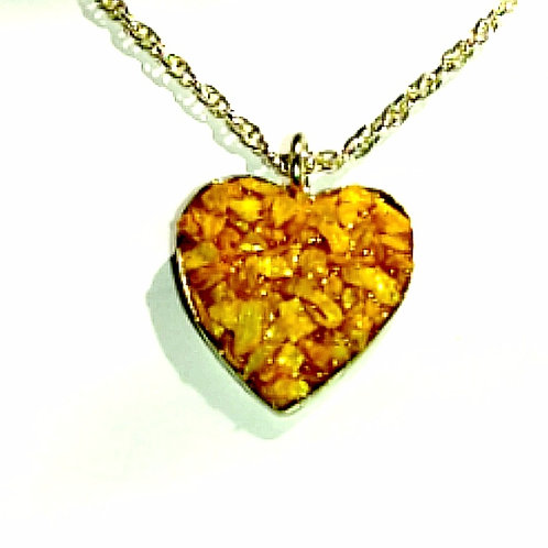 Crushed Orpiment Necklace