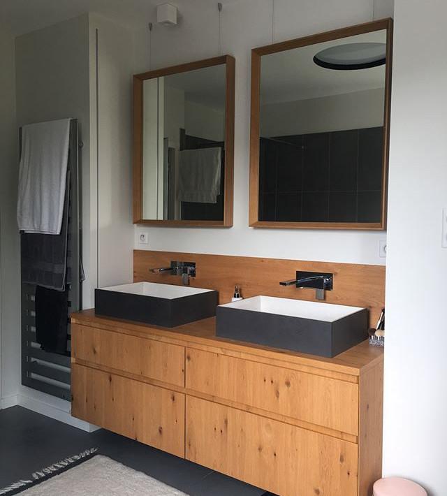Réalisation d'une salle de bain, meubles