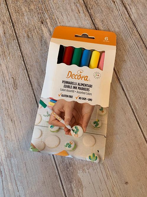Set de 6 stylos Decora