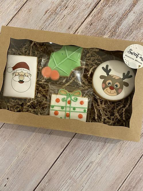 Coffret de 4 biscuits Père Noël