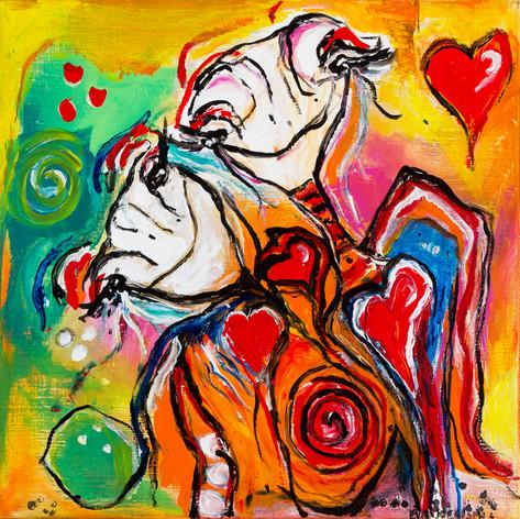 Passionate colorful love