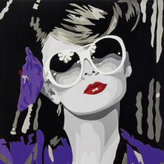 The drinker, violett