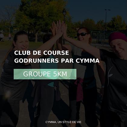 5KM Adhésion au CLUB DE COURSE GODRUNNERS