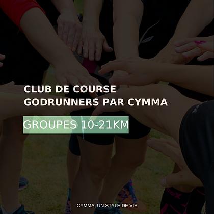 10-21KM Adhésion au CLUB DE COURSE GODRUNNERS