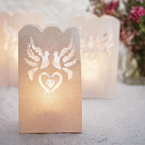 Lanternes de mariage en papier (x12)