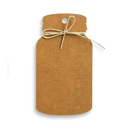 Etiquettes kraft Mason Jar - cadeaux invités