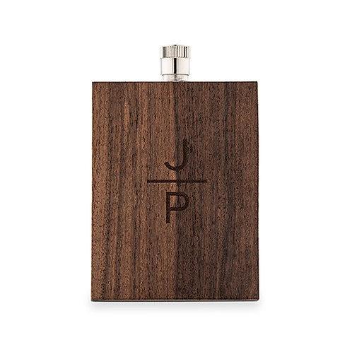 Flacon en bois rustique  - monogramme empilé