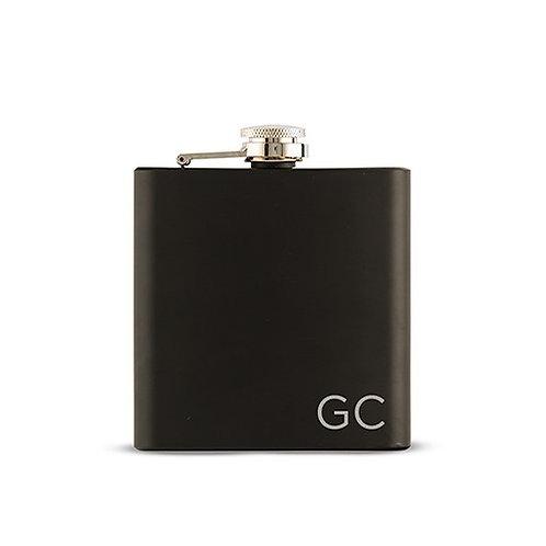 Flasque noire monogrammée