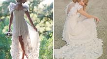 La mariée était en court...