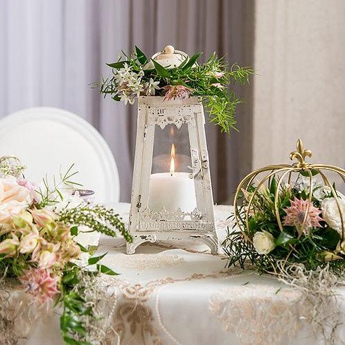 Lanterne vintage blanche