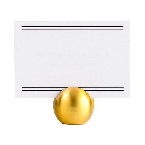 Porte-cartes ronds classiques dorés x 8