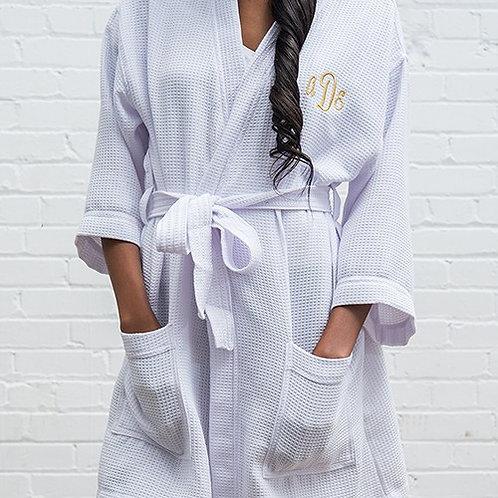Kimono gaufré personnalisé blanc