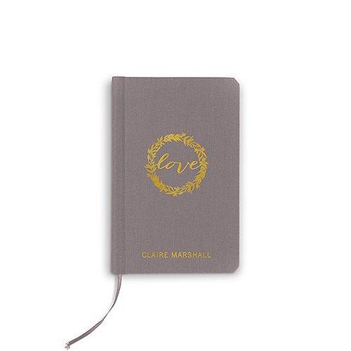 Journal du marié en lin personnalisé
