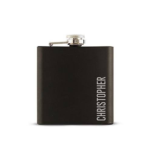 Flasque noire personnalisée