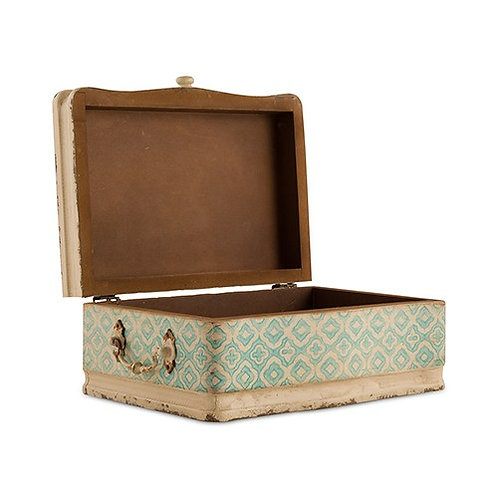 Urne de mariage vintage - valise d'antan