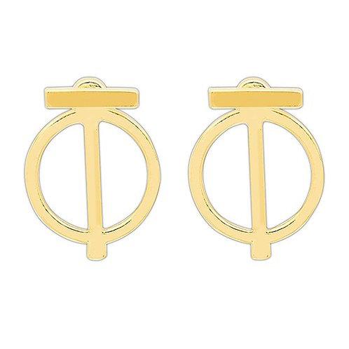 Boucles d'oreilles géométriques plaqué or
