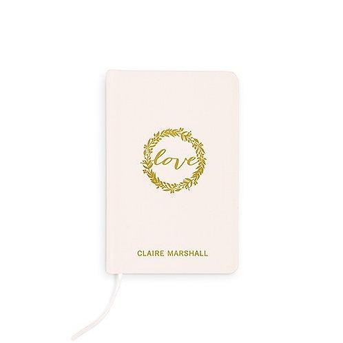 Journal de la mariée en lin personnalisé
