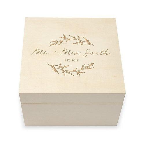 Coffret Souvenirs en Bois Personnalisé - Gravure de Script Signature