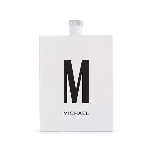 Flacon de liqueur blanc en acier inoxydable