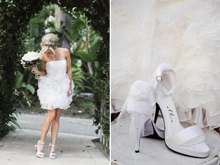 Les chaussures de la mariée...