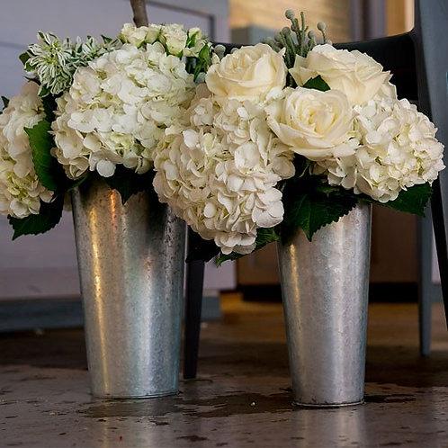 Seau à fleurs galvanisé avec poignée - GM