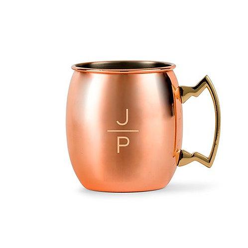 Tasse à boire en cuivre personnalisée - gravure initiales