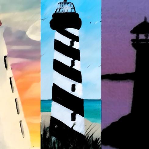 "Wine & Paint - ""The Light House"""