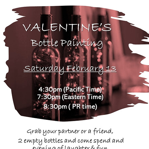 Sip & Bottle painting - VALENTINE's Edition