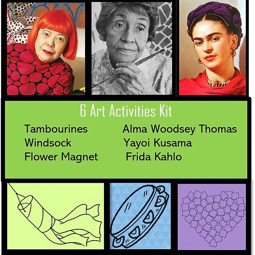 6 Art Activities Kit-Lady Power