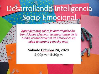 Inteligencia Socio emocional Oct 24 2020