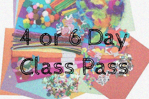 4 or 6 Day Class Pass