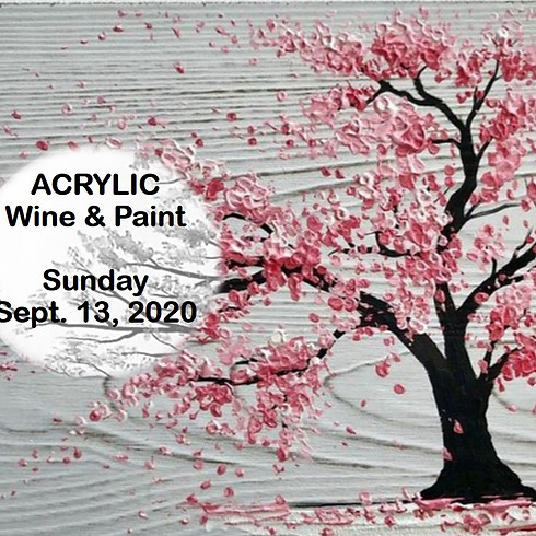 "Wine & Paint - Acrylic ""Cherry Blossom"""