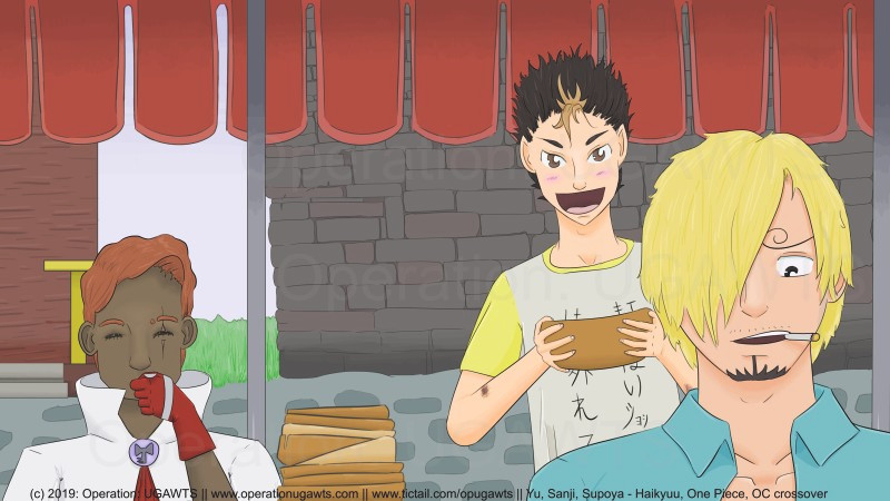 Supoya, Nishinoya, Sanji cooking desktop background