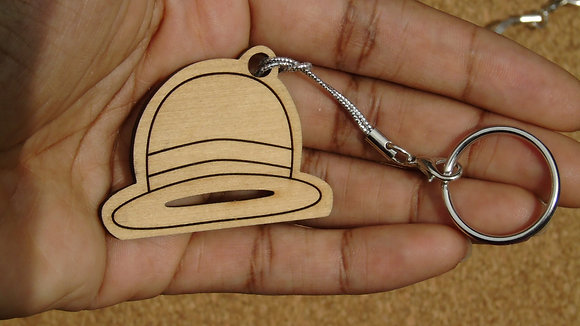 Straw Hat Wood Charm