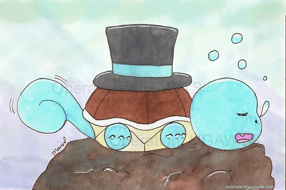 Top Hat Squirtle Print