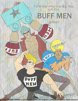 Buff Men Group Print