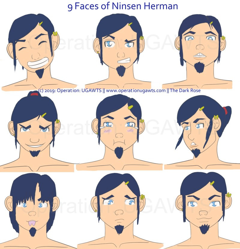 9 Facial Expression of Ninsen Herman