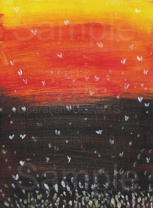 Evening Fireflies Print