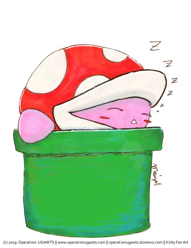 sleeping kirby