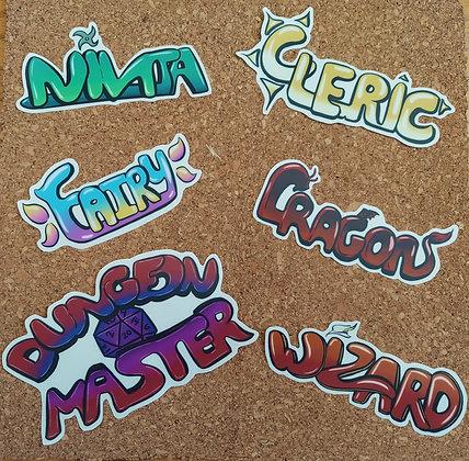 Graffiti Transparent Vinyl Stickers