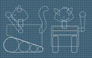 Robot on Blueprint