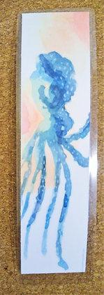 Octopus Watercolor Bookmark