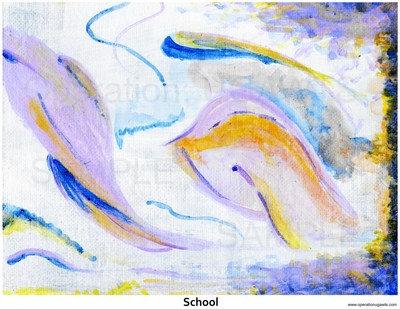 Abstract Fish Print