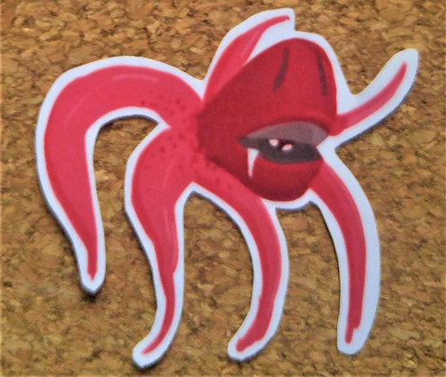 Red Cephalopod Sticker
