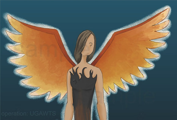 Fire Angel Print