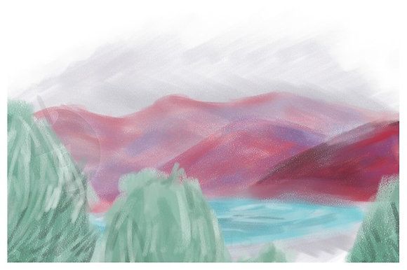 Red Hills Print