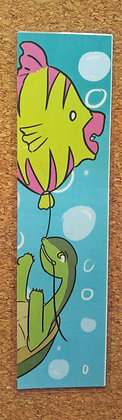 Turtle and Fish Balloon Bookmark